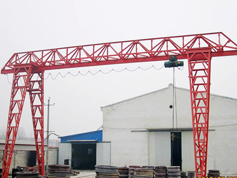 hoist gantry crane with truss structure for sale